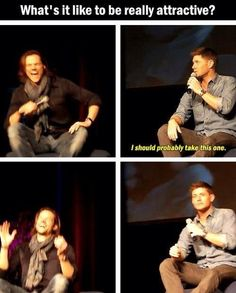 haha #Supernatural's Jensen Ackles Jared Padalecki, you KNOW they are like this ALL the time. :)