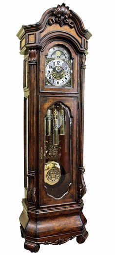 This custom built grandfather clock offers all of the features on the most expensive clocks in a stunning old world case. Description from theclockdepot.com. I searched for this on bing.com/images