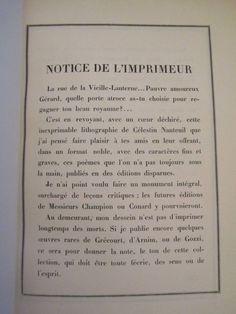 Gerard de Nerval. Les Cydalises et autres poèmes.Typographie.Superbe reliure in Livres, BD, revues, Livres anciens, de collection   eBay