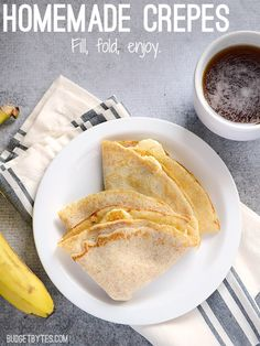 ... crepes are an easy and versatile meal! Homemade Crepes - BudgetBytes