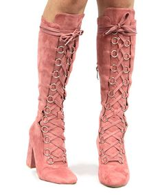 Another great find on #zulily! Dusty Rose Betisa Boot #zulilyfinds