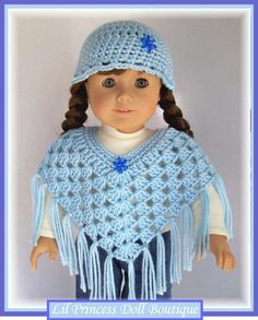 "Free Printable Crochet Doll Patterns | Treasured Heirlooms Crochet Catalog: Vintage Pattern Shop: 18"" Doll ..."