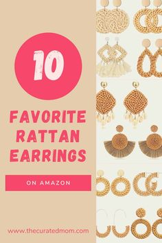 Looking for some cheap and chic new earrings? You'll love this curated list of favorite rattan earrings from Amazon! #amazonfashion #rattanearrings #earrings