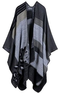 VamJump Women Winter Cashmere Oversized Blanket Poncho Cape Shawl Cardigan Coat * Find out more about the great product at the image link.