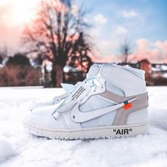 Buy Copy UA Air Jordan 1 X OFF WHITE NRG High White Online with Top Quality