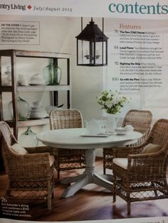 Paint the Dining Table. ... Wicker Chairs - Foter