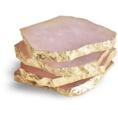 cool nice Rose Quartz Coasters with Gold Leaf Edge, set of 4 by www.top-home-deco...... by http://www.danazhome-decorations.xyz/home-decor-accessories/nice-rose-quartz-coasters-with-gold-leaf-edge-set-of-4-by-www-top-home-deco/