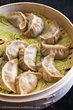 Mom's Best Pork Dumplings by omnivorescookbook: The dumplings are juicy, tender and taste so good even without any dipping sauce! #Dumplings #Pork #Napa #Chinese