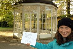 Katalinp will take a photo with your message at the Sound of Music Gazebo for $5 on fiverr.com