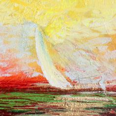 Sailboat with  yellow sky #8733.