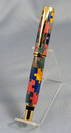 Jigsaw Puzzle Rollerball Pen by pioneerpens on Etsy, $125.00