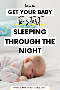How to get your baby to sleep through the night. Is your sweet baby STILL waking up multiple times a night? Get some much needed sleep with these 11 real tips that'll have your baby sleeping through the night in no time! | sleep training tips | how to get your baby to sleep | sleep training hacks | baby sleep tips Baby Needs, Baby Love, Sleep Training Methods, Training Tips, Baby Sleep Schedule, Baby Care Tips, Baby Eating, Preparing For Baby, Sleeping Through The Night