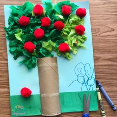 Tissue Paper Apple Tree Craft - Primary Playground Apple Theme Classroom, Paper Tree Classroom, Tissue Paper Trees, Tissue Paper Crafts, Pine Cone Crafts, Tree Crafts, Acorn Crafts, Trees For Kids, Preschool Art Activities