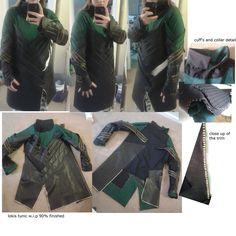 loki's tunic w.i.p - avengers cosplay by sasukeharber.deviantart.com on @deviantART