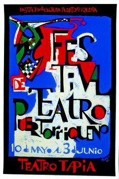 Silkscreen. Lorenzo Homar. 1962. From the catalogue: Abrapalabra, la letra mágica. Museo UPR-Río Piedras, Puerto Rico.