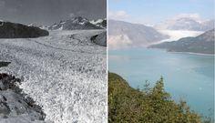 Aljaška v auguste 1941 vs. v auguste 2004. (Foto: NASA)