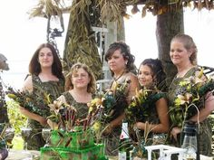 Has anyone seen the bridesmaids? I knew we should of went with those fancy blue jean dresses instead of the camouflage ..