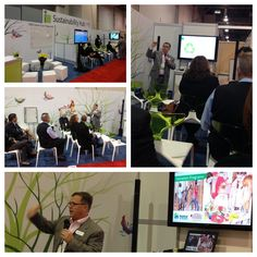 """Freeman Vice President of Sustainability, Jeff Chase, presents """"Sustainability Lifecycle: Planning a 'Second Life' for Event Materials at IMEX America in Las Vegas."""