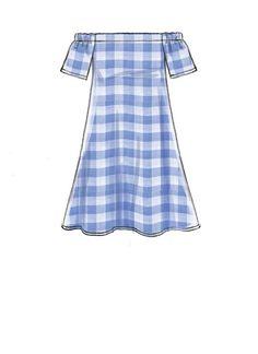 McCall M7744 Misses' Dresses and Belt #sewingpattern #seweasy