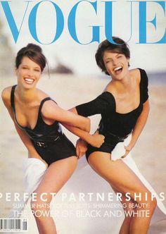 Christy Turlington and Linda Evangelista Vogue 1990s