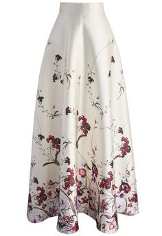 Serenity Floral Printed Maxi Skirt - New Arrivals - Retro, Indie and Unique Fashion
