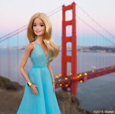 So long San Francisco! Ending a great week with a sunset at the iconic #GoldenGateBridge.   #barbie #barbiestyle