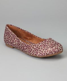 Take a look at this Purple Leopard Xia Flat by b.o.c by Born on #zulily today!