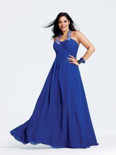 LONG PROM DRESSES FOR FULL FIGURE WOMEN