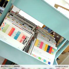 6x6 Paper Pad Storage @BazzillBasics @Jennifer Ingle #bazzillbasics #storage #americancrafts