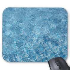 Shards Of Light On Blue Pool Water Abstract Design Mouse Pad