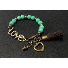 Pulsera de Moda con Perlas | Love