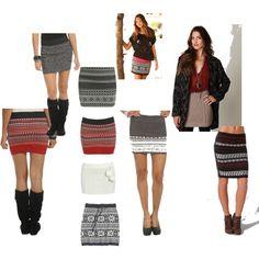 Sweater Skirt Love by kaquino21, via Polyvore