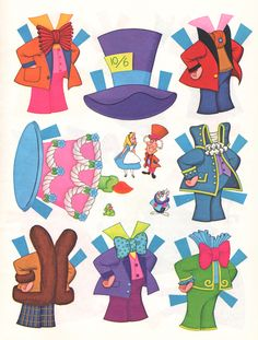 All sizes | Alice in Wonderland Paper Dolls | Flickr - Photo Sharing!