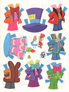 All sizes | Alice in Wonderland Paper Dolls | Flickr - Photo Sharing!