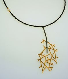 Pendant Reflections Iosif with ruthenium-gold plated Silver 925,a pearl & onyx stones. Pendant Code:3381.PD.1829.GO.001