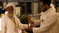 De pelgrims die in Mekka zijn voor de hadj, de jaarlijkse bedevaart die elke…