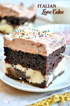 With help from a cake mix, this Chocolate Italian Love Cake is so simple  that 0186e7e136b