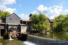 The Old Mill has a beautiful location in Pigeon Forge. #restaurant