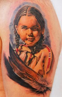 Indians tattoo by Erich Rabel Memory Tattoos, Indian Tattoos, World Tattoo, Tattoos Gallery, Number 2, Tattoo Photos, Tattoo Artists, Board, Color