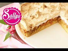 Rhubarb cake with meringue topping Rhubarb Desserts, Rhubarb Cake, Low Carb Bagels, Love Cake, Cake Cookies, Cupcakes, Christmas Baking, Food Inspiration, Sweet Recipes
