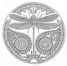 Resultado de imagem para dragonfly mandala