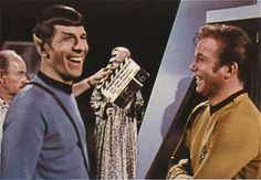 spock and Captain T.Kirk