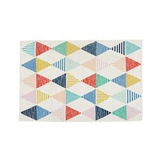 Colorful Triangle 5 x 8' Rug | The Land of Nod