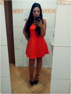 Orange-red dress :)