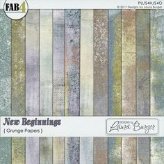 New Beginnings Grunge Papers By Designs by Laura Burger