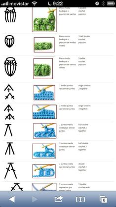 Best 12 best 12 100 crochet symbols and how it looks after crocheting words are in spanish and it is a jpeg so it cannot be translated – skillofking com – AmigurumiHouse – Page 529243393712610394 – SkillOfKing. Crochet Puntada Bobble, Bobble Stitch Crochet Blanket, Crochet Stitches Chart, Crochet Motifs, Single Crochet Stitch, Crochet Diagram, Filet Crochet, Crochet Basics, Knit Crochet