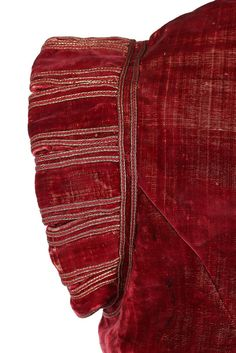 Kerry Taylor Auctions rare crimson velvet jerkin, circa 1610-25. Provenance: The Helen Larson Private Collection Published: The Journal of the Costume Society, no 5, 1971, 'A Study of Three Jerkins' by Janet Arnold