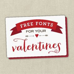 Collection of free fonts for your Valentine's Day cards and projects.