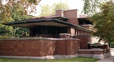 Prairie Style Houses, House Plans One Story, Frank Lloyd Wright, Modern Architecture, Pergola, Outdoor Structures, Cabin, Interior Design, House Styles