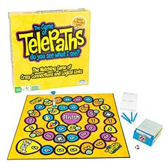 Family Board Game of Telepaths - Matching Game of Crazy C...